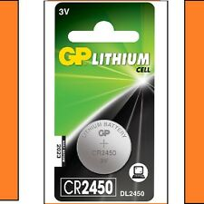 1 x GP CR2450 3V litio moneta cella BATTERIA 2450 DL2450