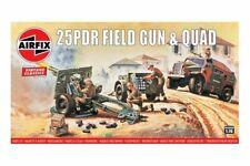 AIRFIX A01305V 1/76 25pdr Field Gun & Quad Vintage Classics