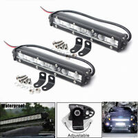2x 36W 7inch LED Work Light Bar Spot Driving Fog Ligh Off Road SUV Truck 6000 md