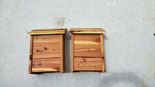 2 Cedar Bat houses NEW never used