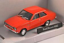 Ford Escort Mk1 en rojo 1/43 Escala Modelo Por Cararama