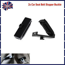 2x For BMW Seat Belt Stopper Buckle Improves Comfort Auto Safety Adjuster Clips