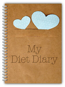 DIET DIARY SLIMMING TRACKER FOOD Dieting WEIGHT LOSS JOURNAL MY DIET DIARY Hrts