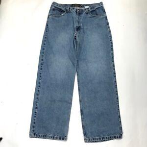 Bullhead Black Tab Men's 34x32 (34X29.5 Actual) Straight Leg Blue Jeans  Denim