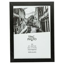 A4 Black Certificate Photo Picture Frame With Safety Plexi Glass Home Or Office