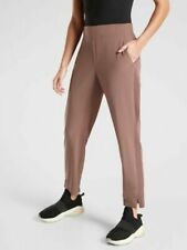 ATHLETA Brooklyn Ankle Pant 6 S SMALL Mineral Brown Lightweight Travel Pant