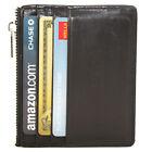 Genuine Leather Slim Front Pocket Credit Card Case Super Thin Soft Mini Wallet