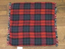 Pottery Barn Albright Plaid Pillow Cover Reversible 20 x 20 Black White Red New