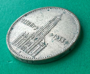 GERMAN 2 Reichsmark .625 Silver  world war two  1934 G with Date ,mega rare