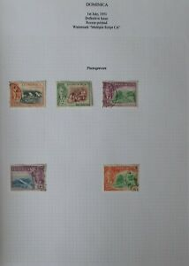 Dominica. Two sheets of fine used, George VI and Elizabeth II.