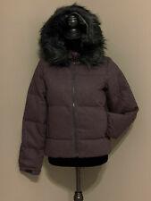 GAP Women's Fur-trim down puffer Coats & Jackets Plum S