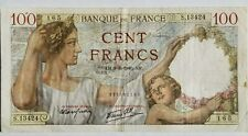 FRANCE 100 CENT FRANCS BANKNOTE 1940 XF NO RESERVE