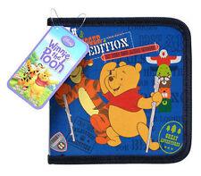 24 CD DVD Organizer Storage Case Pooh Tigger Piglet Blue NEW