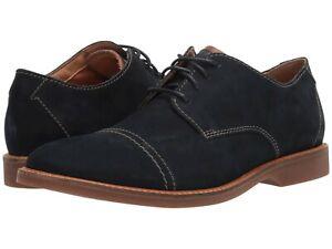Men's Shoes Clarks ATTICUS CAP Toe Leather Lace Up Oxfords 45342 NAVY NUBUCK