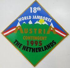 1995 World Jamboree Netherlands Austria Contingent Sticker [G1099]