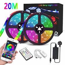 20M LED Strip Lights, CGN Bluetooth 65.6FT/20M 5050 RGB Strip Lights Music Sync