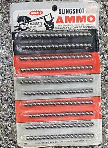 Wham-O Vintage 1965 Slingshot Ammo 25 Caliber Shot Cut-a-Pak Automatic Dispenser