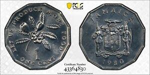1980 Jamaica F.A.O. Cent PCGS SP67 Kings Norton Mint Proof