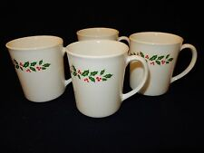 Corelle Winter Holly Lot of 4 Coffee Mugs 12 oz. Corelle Weight