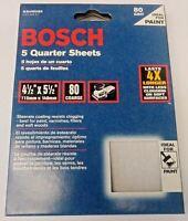 "Bosch SS4W080 5 Piece 80 Grit 4-1/2"" x 5-1/2"" General Purpose Sanding Sheets"