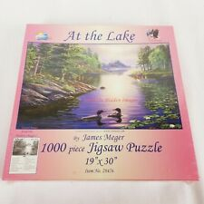 """Suns Out 1000 Piece Jigsaw Puzzle #28476 At The Lake by James Meger 19"""" x 30"""""""