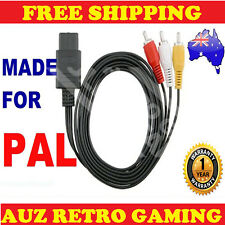 PAL N64 Super Nintendo RCA AV Cable Video Lead Original SNES & Gamecube
