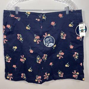 Karen Scott 16 Blue Floral New Golf Skirt Shorts Combo Skort Womens Sport Ladies