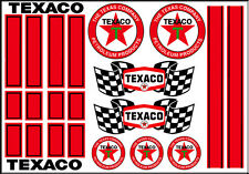 1:64 SCALE HOT WHEELS RACING STRIPES TEXACO RACING WATERSLIDE DECALS