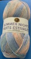 Lion Brand Summer Nights Bonus Bundle Blue Lagoon 512-307 Super Fine; 875 Yds