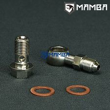Banjo Bolt Kit 4AN to M12x1.25 Turbo Water coolant for Subaru TD04L RHF5H RHF55