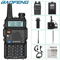 Baofeng UV-5R LCD Dual Band UHF VHF Walkie Talkie Ham Two Way Radio + Earpiece