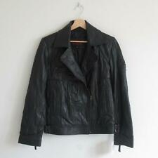 Womens Vintage Brixton Leather Wear 100% Leather Jacket Textured/Creased Size XL
