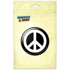 Peace Sign Symbol Black Pinback Button Pin Badge