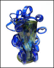 DALE CHIHULY Original Venetian Ribbon Vase Hand Blown Glass Sculpture Signed Art