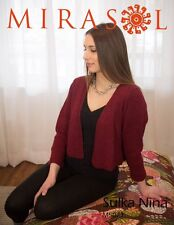 Mirasol Sulka Nina M5077 Knitting Pattern Red Cardigan Easy Knitted #14D111