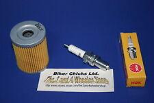 SUZUKI 1989 LT160 E Tune Up Kit NGK Spark Plug & Oil Filter