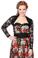 Black Lace Roses Gothic Punk Rockabilly Psychobilly Bolero by BANNED Apparel S