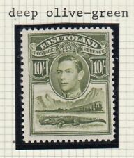 BASUTOLAND .1938 10/- deep olive-green MNH.  SG28