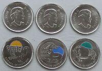 Kanada / Canada 3x25 Cents 2011 CuNi unz.