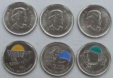 Canadá/Canada 3x25 centavos 2011 cuni unz.
