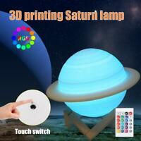 3D Printing Saturn Lamp Saturn light USB LED Night Light Touch Color Changing