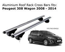 Aluminium Roof Rack Cross Bars fits Peugeot 308 Wagon 2008-2014
