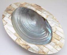 Seifenschale 15 cm aus echtem Perlmutt Seife Spender Handarbeit