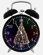 "Christmas Tree Alarm Desk Clock 3.75"" Home or Office Decor W271 Nice For Gift"