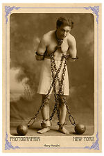 HARRY HOUDINI Master Showman Magician Photograph A+ Cabinet Card