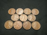 1915 P D, 1916 PDS - 1918 PDS  Lincoln  Wheat Cents 11 different early dates