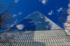Framed 11x14 (brown) and matted (white) 8x10 photo of World Trade Center NYC
