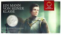 Österreich 10 Euro 2019 Ritterlichkeit Handgehoben Silbermünze im Folder