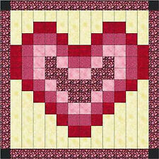 Ezy Quilt Kit/Valentine Hearts/Beautiful/Pre-cut Fabrics Ready To Sew