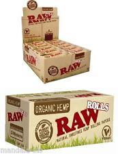 RAW Rolls CHANVRE  Feuilles à Rouler Lot de 10 Rouleaux (Roll's Slim Organic)